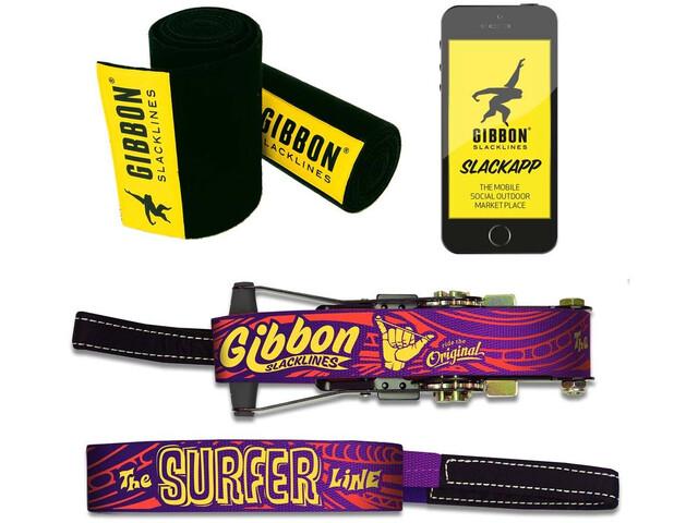 GIBBON Surferline Set de Slackline, purple